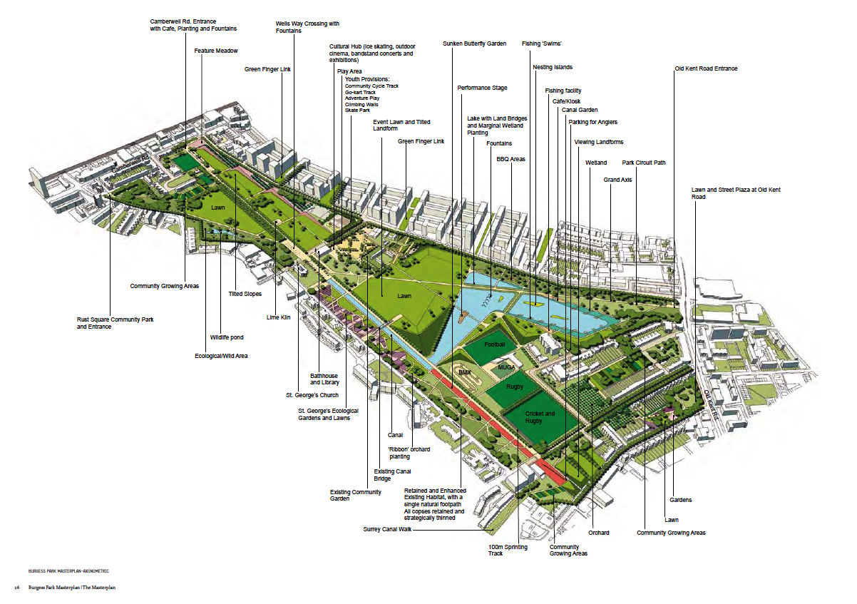 Burgess Park Latest Master Plan