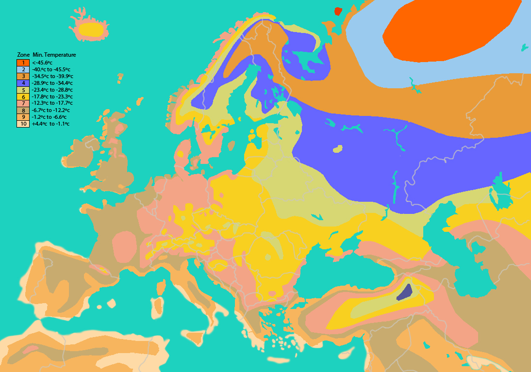Climate Zones Map of Europe images