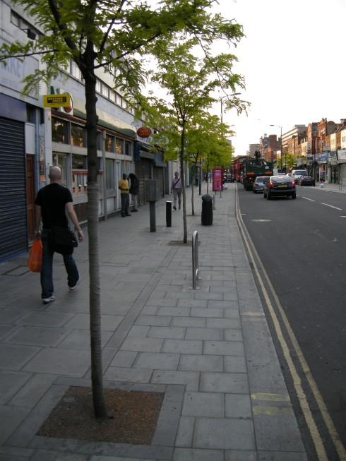 Walworth Road - Widened Pavement Tree Planting