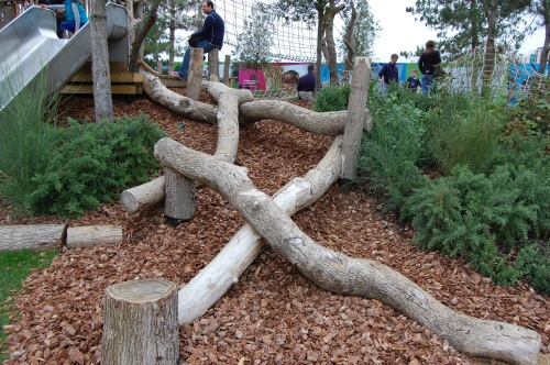 Tumbling Bay Playground, Queen Elizabeth Olympic Park - Balance Logs