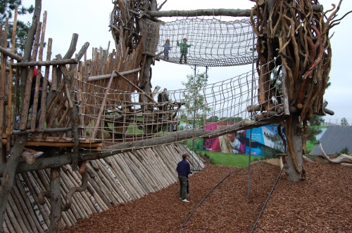 Tumbling Bay Playground, Queen Elizabeth Olympic Park - Rope Bridge
