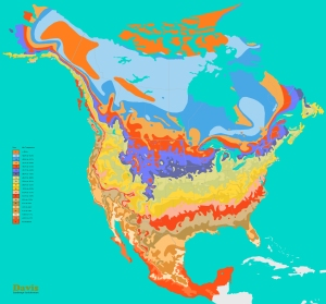 Canada USA Mexico North America Plant Hardiness Zone Map