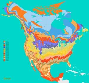 Canada USA Mexico North America Plant Hardiness Zone Map