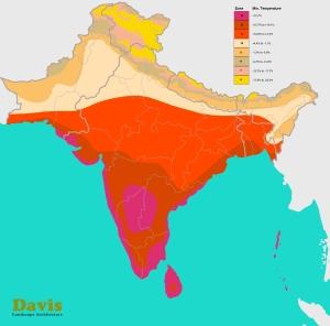 USDA India Pakistan Bangladesh Nepal Plant Hardiness Zone Map