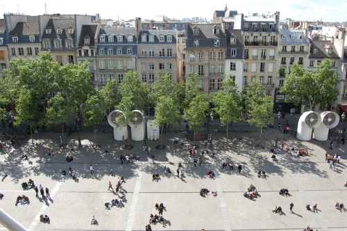 Pompidou Centre Landscape, France View from Above
