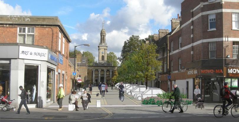 0007 Davis Landscape Architecture Liverpool Grove London Public Realm Landscape Feasibility Study Visualisation