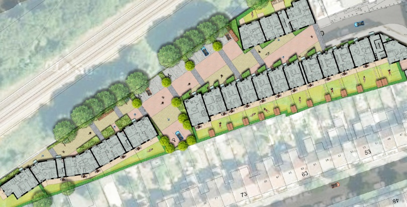 0163 Davis Landscape Architecture Grange Road London Residential Home Zone Rendered Landscape Master Plan