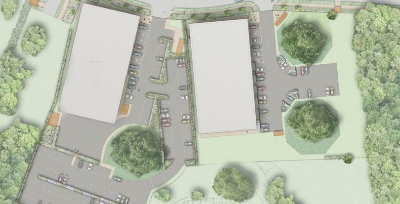 0172 Davis Landscape Architecture Chelmsford Business Park Plots K & L Landscape Architect Rendered Plan