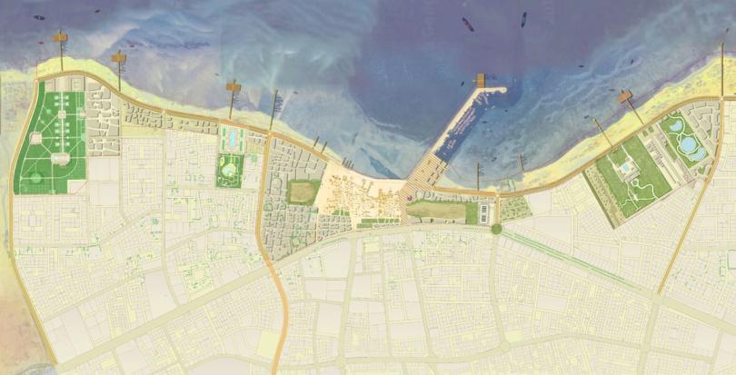 0198 Davis Landscape Architecture Al Wakrah Waterfront Competition Qatar Masterplan Landscape Architect Masterplan