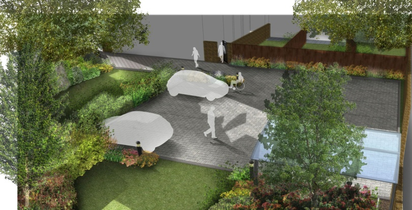 0241 Davis Landscape Architecture Little Heath Residential Landscape Render Visualisation