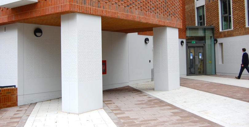 0245 Davis Landscape Architecture Ravenscout House London Student Accommodation Landscape Complete Entrance Space