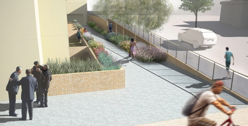 0253 Davis Landscape Architecture Finchley Road London Residential Landscape Render Visualisation Public Realm