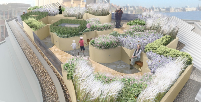 0259 Davis Landscape Architecture Wapping London Residential Roof Garden Landscape Rendered Visulisation Day