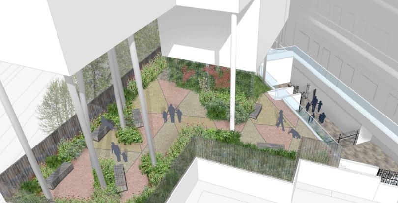 0265 Davis Landscape Architecture Iverson Road London Residential Landscape Rendered Visualisation Courtyard