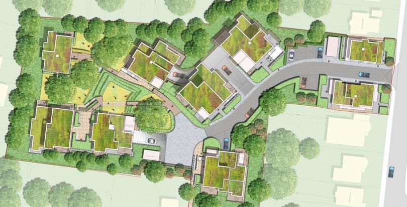 0266 Davis Landscape Architecture Tyson Road London Residential Landscape Rendered Masterplan