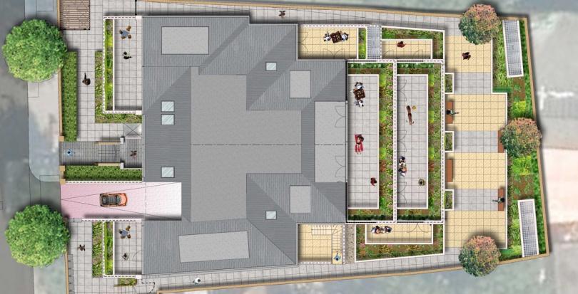 0284 Davis Landscape Architecture The Grove London Residential Landscape Roof Garden Rendered Masterplan