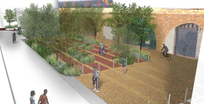 0287 Davis Landscape Architecture Crown Street London Home Zone Mixed Use Public Realm Residential Landscape Render Planning