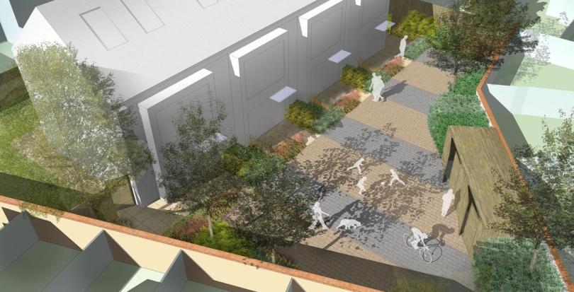 0296 Davis Landscape Architecture Clyde Road Residential Landscape Rendered Visualisation