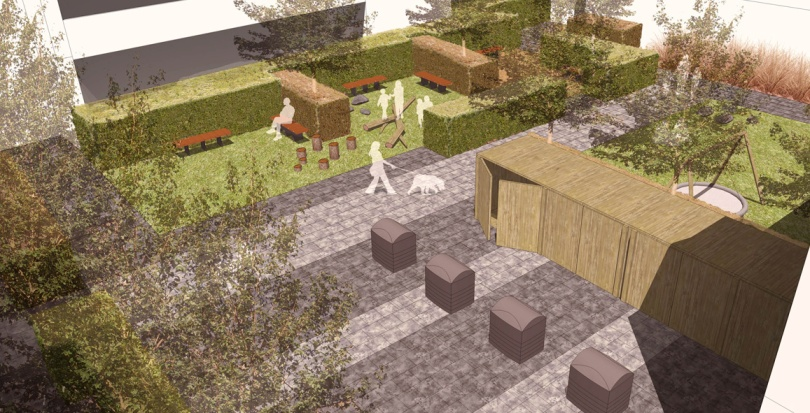 0301 Davis Landscape Architecture Bow Road London Housing Residential Shared Space Play Landscape Architect Rendered Visulisation s