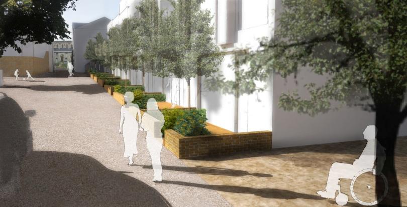 0311 Davis Landscape Architecture Highbury Grove London Shared Space Residential Landscape Visualisation Render