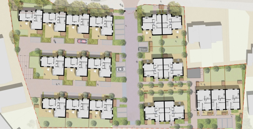 0312 Davis Landscape Architecture Albyns Close London Residential Landscape Architect Render Masterplan Planning