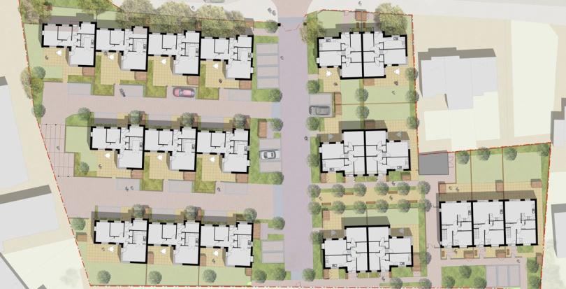 0312 Davis Landscape Architecture Albyns Close London Residential Landscape Architect Render Masterplan Planning