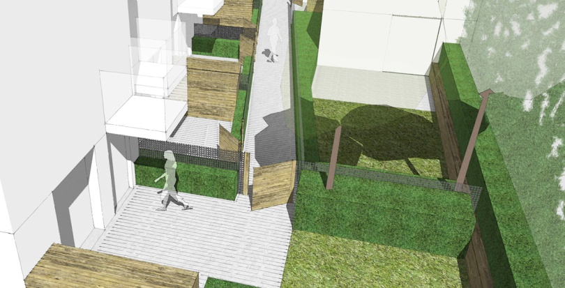 0314 Davis Landscape Architecture Ashby Road London Residential Landscape Render Courtyard Visualization Planning