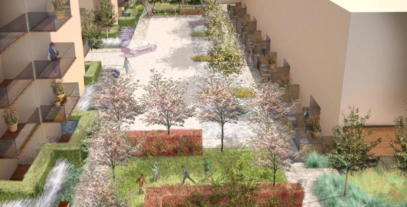 0331 Davis Landscape Architecture Sarena House Silver Works Residential Landscape Architect Visualisation Planning