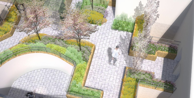0356 Davis Landscape Architecture Chadwell Street Residential Landscape Architect Design Rendered Visualisation Planning