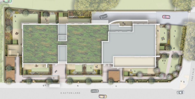 0364 Davis Landscape Architecture Park Grove Acton London Residential Landscape Architect Design Rendered Plan