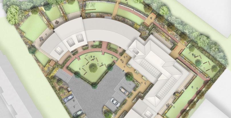 0375 Davis Landscape Architecture Mill Farm Richmond Upon Thames London Play Residential Landscape Architect Design Rendered Plan