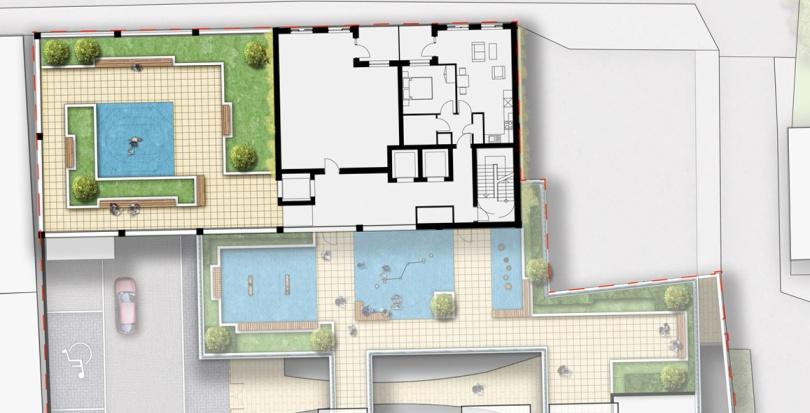 0392 Davis Landscape Architecture Hollybush Place Bethnal Green Tower Hamlets Residential Landscape Architect Design Detailed Planning Podium Deck Play Rendered Plan