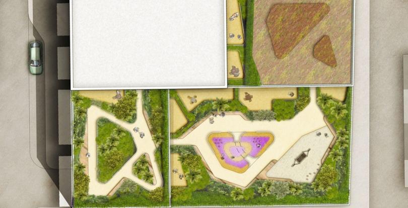 0428 Davis Landscape Architecture Edgware Road Colindale London Render Plan Residential Landscape Architect Design Planning Green Roof