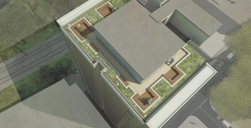 0441 Davis Landscape Architecture Gwynne Road Battersea London Render Visualisation Residential Landscape Architect Design Conditions Tender Green Roof