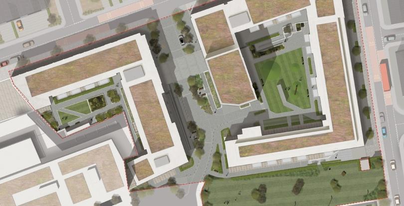 0449 Davis Landscape Architecture Marine Wharf Bermondsey London Residential Landscape Architect Design Podium Deck Construction Render Plan