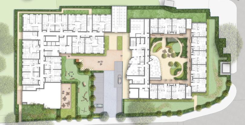 0462 Davis Landscape Architecture Knowles House Brent London Residential Masterplan Landscape Architect Design Detail Planning Rendered