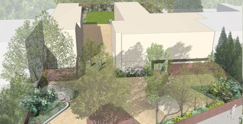 Davis Landscape Architecture Adiscombe Road Landscape Architect Visualisation Perspective