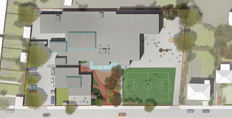 Davis Landscape Architecture Gordon Infant School Ilford Redbridge London Landscape Architect Design Rendered Masterplan Planning