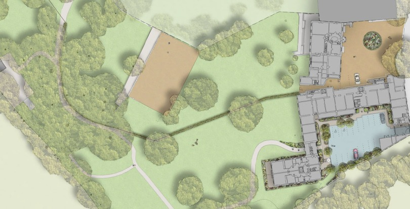 Davis Landscape Architecture Holcombe House London Residential Landscape Architect Render Masterplan Planning