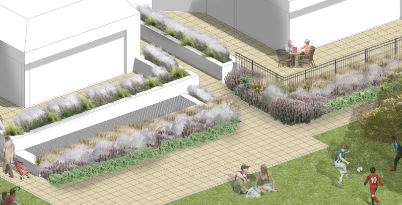 Davis Landscape Architecture Totteridge Lane London Residential Landscape Rendered Perspective