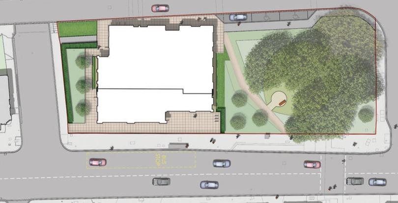 Davis Landscape Architecture Westbury Estate Clapham Lambeth London Residential Rendered Plan Landscape Architect Design Planning Site 1