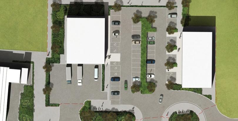 0423 Davis Landscape Architecture Unit 21 27 Witham Essex Commercial Landscape Architect Design Planning Rendered Plan