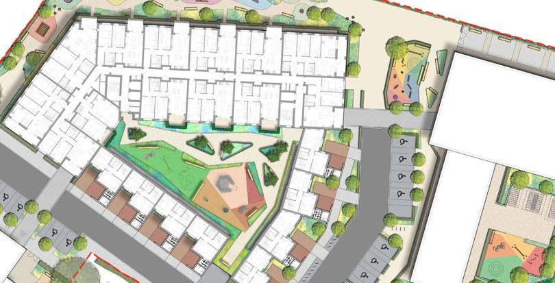 0479 Davis Landscape Architecture London Road Wembley Brent London Render Masterplan Residential Landscape Architect Design