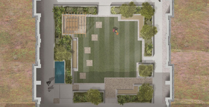 Davis Landscape Architecture Young Street Kensington and Chelsea London Residential Landscape Architect Design Podium Deck Construction Render Plan Blog