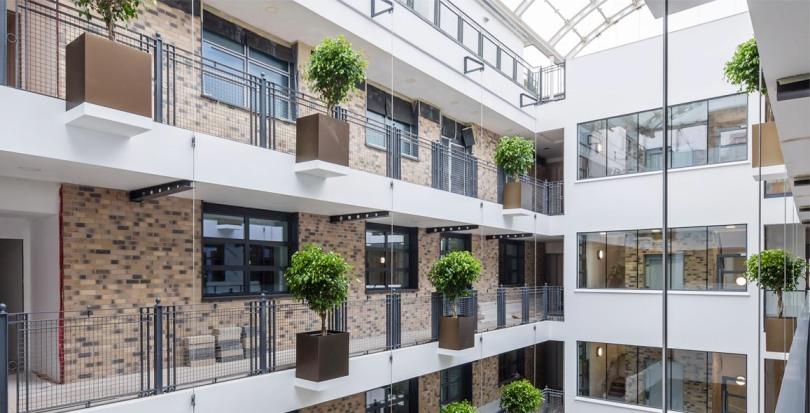Davis Landscape Architecture Carlow House Camden London Residential Atrium Landscape Architect Technical Design Pots Complete