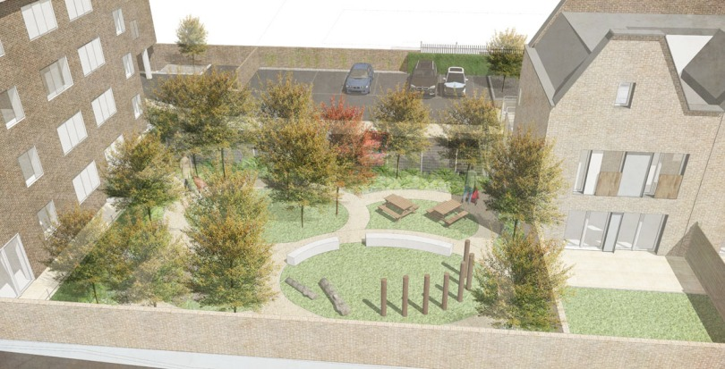 Davis Landscape Architecture Gillan Court Lewisham Render Visualisation Residential Landscape Architect Design Play Blog