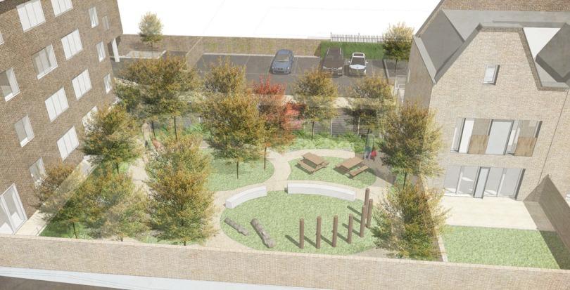 Davis Landscape Architecture Gillan Court Lewisham Render Visualisation Residential Landscape Architect Design Play Blog